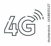 vector 4g internet wirelles... | Shutterstock . vector #1418835137