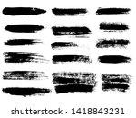 painted grunge stripes set.... | Shutterstock . vector #1418843231