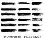 painted grunge stripes set.... | Shutterstock . vector #1418843234