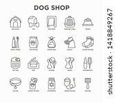 dog shop thin line icons set ... | Shutterstock .eps vector #1418849267