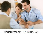young couple meeting... | Shutterstock . vector #141886261