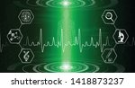 abstract background technology... | Shutterstock .eps vector #1418873237