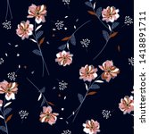beautiful florals and unique... | Shutterstock .eps vector #1418891711