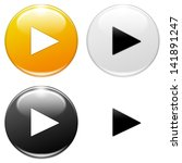 play button  yellow  white ... | Shutterstock . vector #141891247