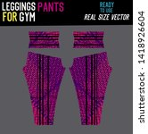 leggings pants fashion with... | Shutterstock .eps vector #1418926604