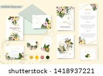 wedding tropic exotic floral... | Shutterstock .eps vector #1418937221