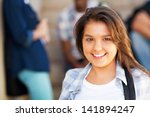 smiling young middle school... | Shutterstock . vector #141894247