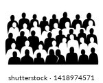 group of people silhouettes... | Shutterstock .eps vector #1418974571