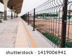 aluminum fence side tactile... | Shutterstock . vector #1419006941