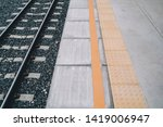 yellow tactile paving side... | Shutterstock . vector #1419006947