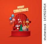 christmas wonderland greetings... | Shutterstock .eps vector #1419023414