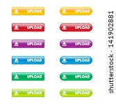 colorful set of upload buttons | Shutterstock .eps vector #141902881