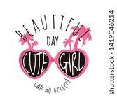 typography slogan with pink... | Shutterstock .eps vector #1419046214