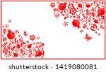 greeting horizontal visiting...   Shutterstock . vector #1419080081