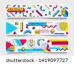 three horizontal banners.... | Shutterstock .eps vector #1419097727