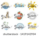 emblems collection of hello... | Shutterstock .eps vector #1419142934