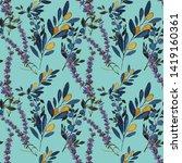 watercolor seamless pattern... | Shutterstock . vector #1419160361