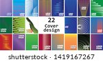 set of 22 pieces cover design...   Shutterstock .eps vector #1419167267