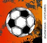 vector grunge color full soccer ...   Shutterstock .eps vector #141916801
