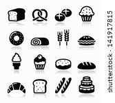Bakery  Pastry Icons Set  ...