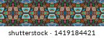 ethnic embroidery. seamless...   Shutterstock . vector #1419184421
