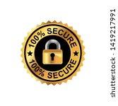 vector 100  secure  ...   Shutterstock .eps vector #1419217991
