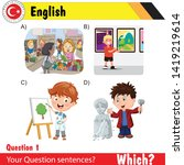 english lesson   english ... | Shutterstock .eps vector #1419219614