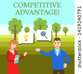 word writing text competitive... | Shutterstock . vector #1419240791