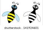 happy bee | Shutterstock .eps vector #141924601