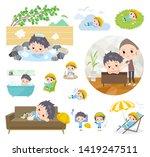 a set of nursery school boy... | Shutterstock .eps vector #1419247511