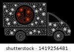 bright mesh dangerous truck...   Shutterstock .eps vector #1419256481