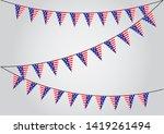 america triangle flag garland ...   Shutterstock .eps vector #1419261494