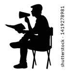 film director silhouette vector ... | Shutterstock .eps vector #1419278981