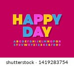 vector greeting card happy day. ... | Shutterstock .eps vector #1419283754