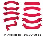 set of red arch  banner icon... | Shutterstock .eps vector #1419293561