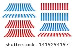 set of red and white  blue and... | Shutterstock .eps vector #1419294197