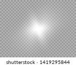 blue or white glowing light... | Shutterstock .eps vector #1419295844
