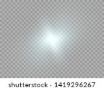 blue or white glowing light... | Shutterstock .eps vector #1419296267