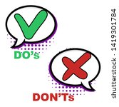 pop art do and dont comic sign. ...