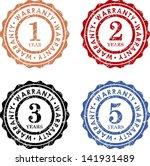 1 2 3 5 warranty   vector... | Shutterstock .eps vector #141931489