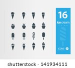 ice cream icon set   set of 16...