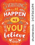 inspirational words colorful... | Shutterstock .eps vector #1419361694