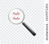 sale world with magnifier icon... | Shutterstock .eps vector #1419371351