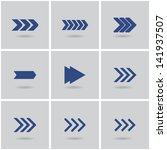 9 arrows. vector. set 1. eps10 | Shutterstock .eps vector #141937507