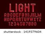font lamp symbol  red letter... | Shutterstock .eps vector #1419379604
