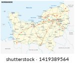 road map of the new french...   Shutterstock . vector #1419389564