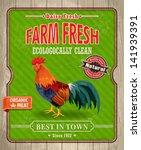 vintage organic farm fresh... | Shutterstock .eps vector #141939391