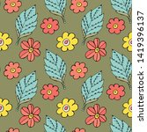 vector seamless pattern with... | Shutterstock .eps vector #1419396137