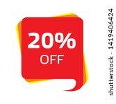 discount price sale bubble... | Shutterstock .eps vector #1419406424