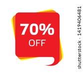 discount price sale bubble... | Shutterstock .eps vector #1419406481